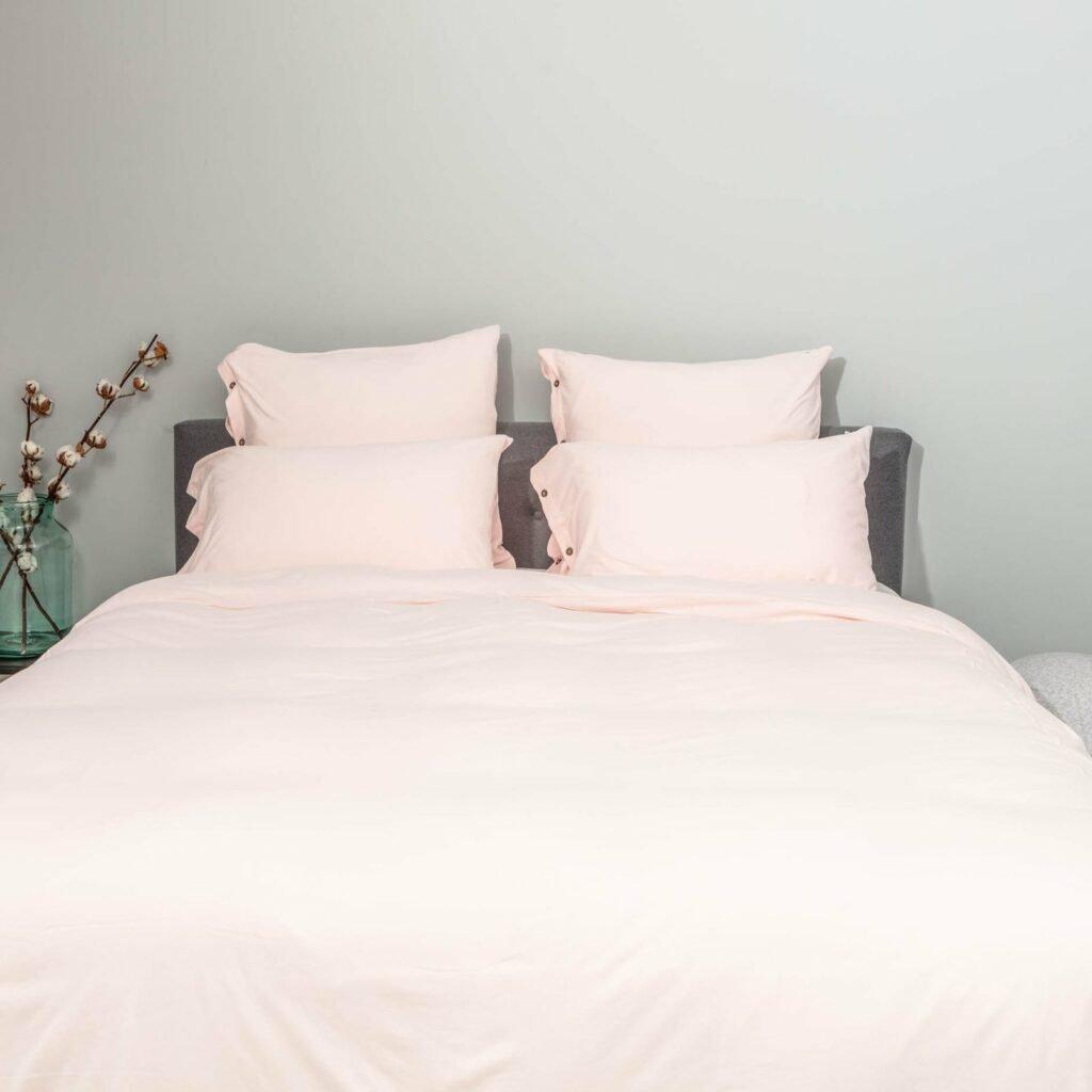 Cotton premium jersey bedroom soft pink 1
