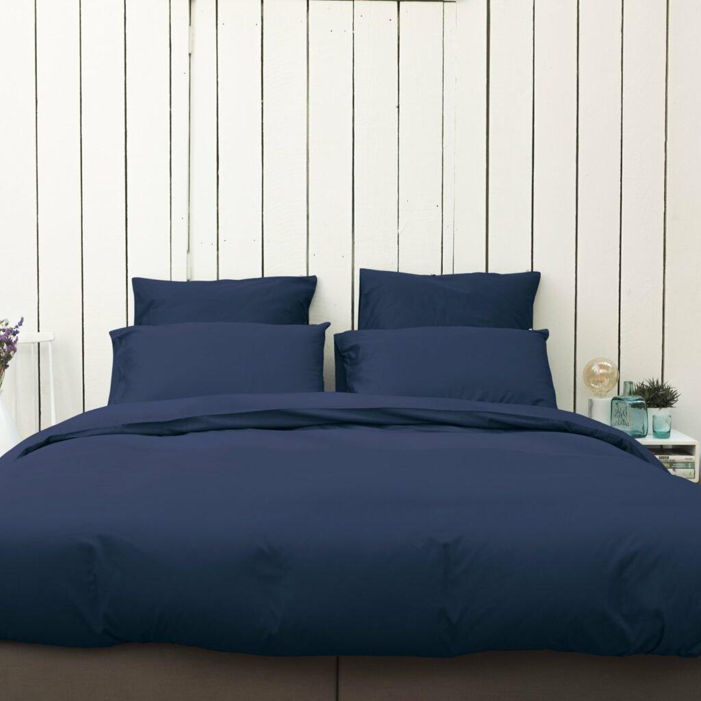 Cotton sateen bedroom midnight blue 5