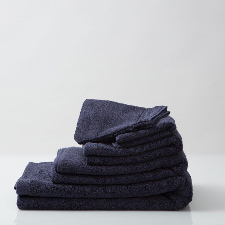 Luxury bath linen bundle navy 1