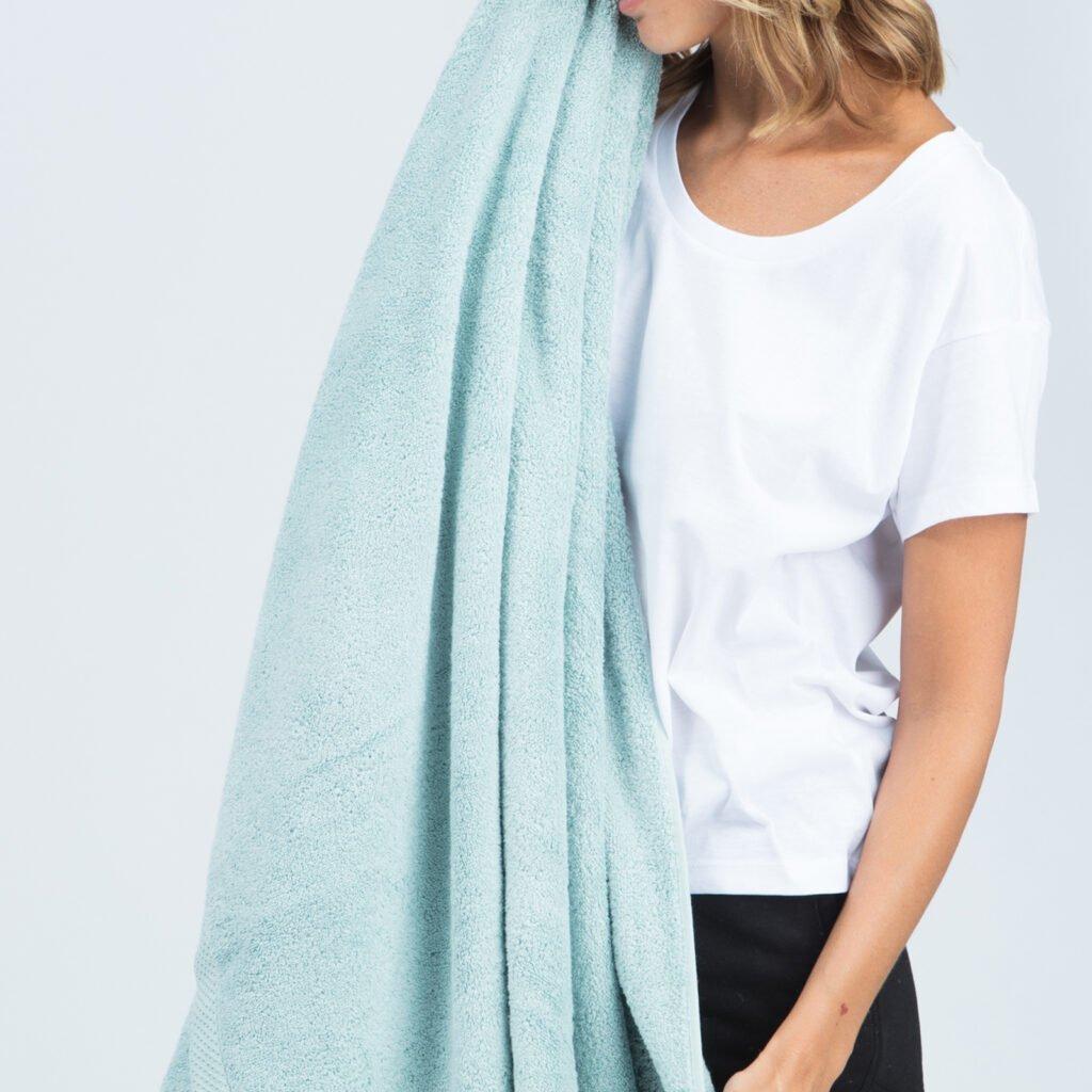 Luxury bath sheets kalani blue 1