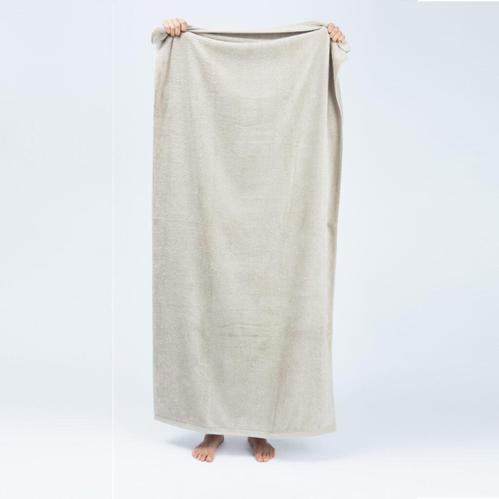 Luxury bath sheets sand 1