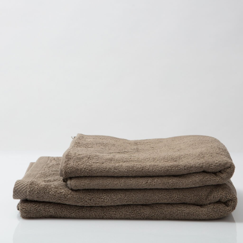 Luxury bath sheets taupe 2