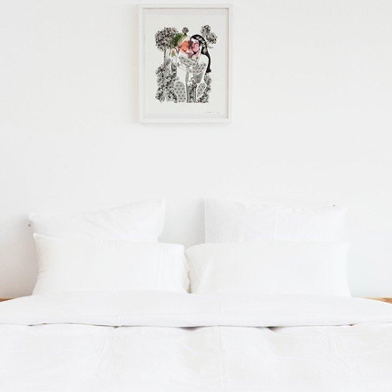 Cotton Percale Pillowcase Snow White 8