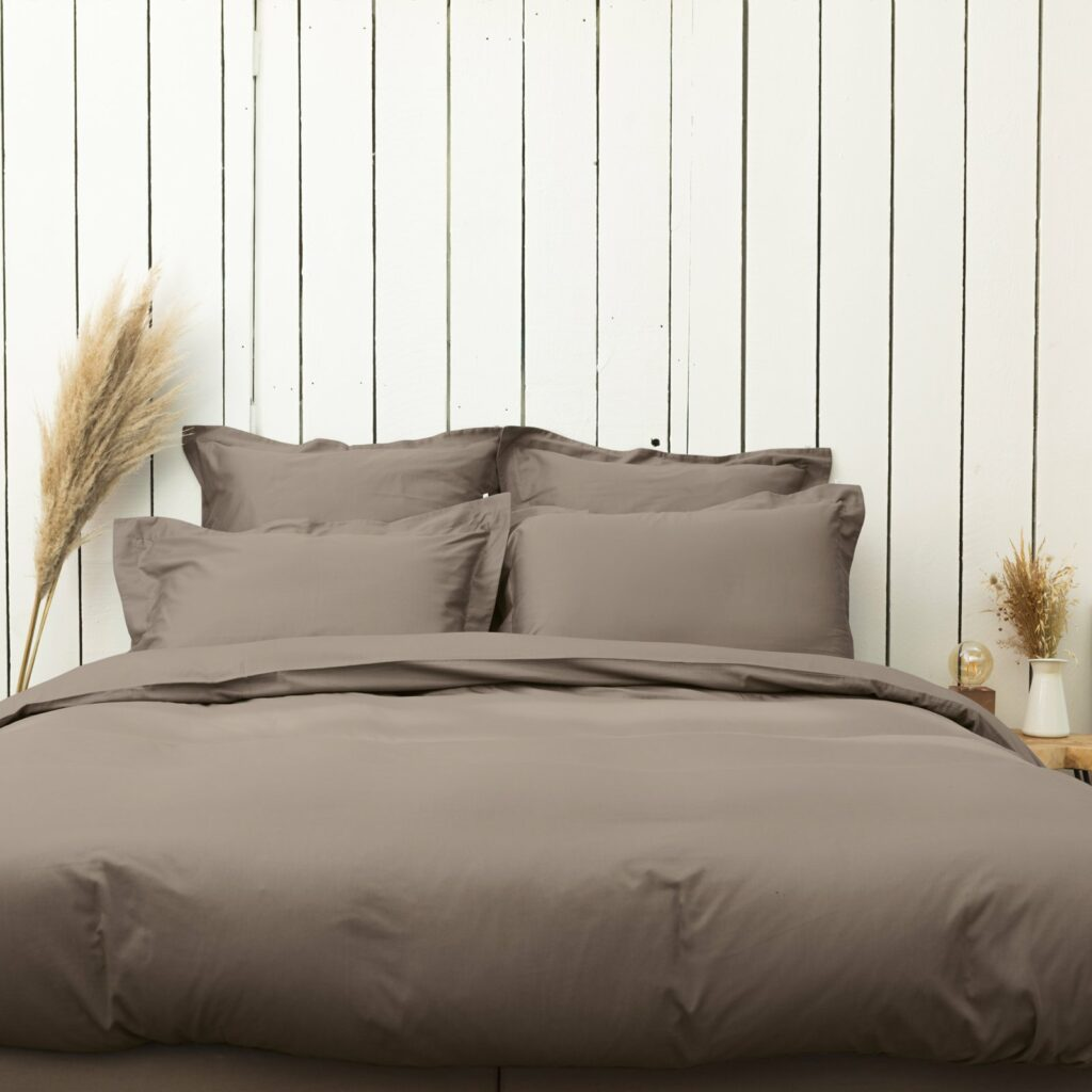 cotton sateen bedroom taupe 3