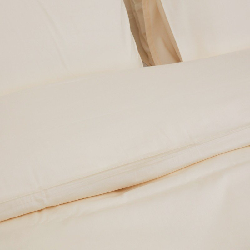 Cotton Sateen Duvet Cover Ivory 6