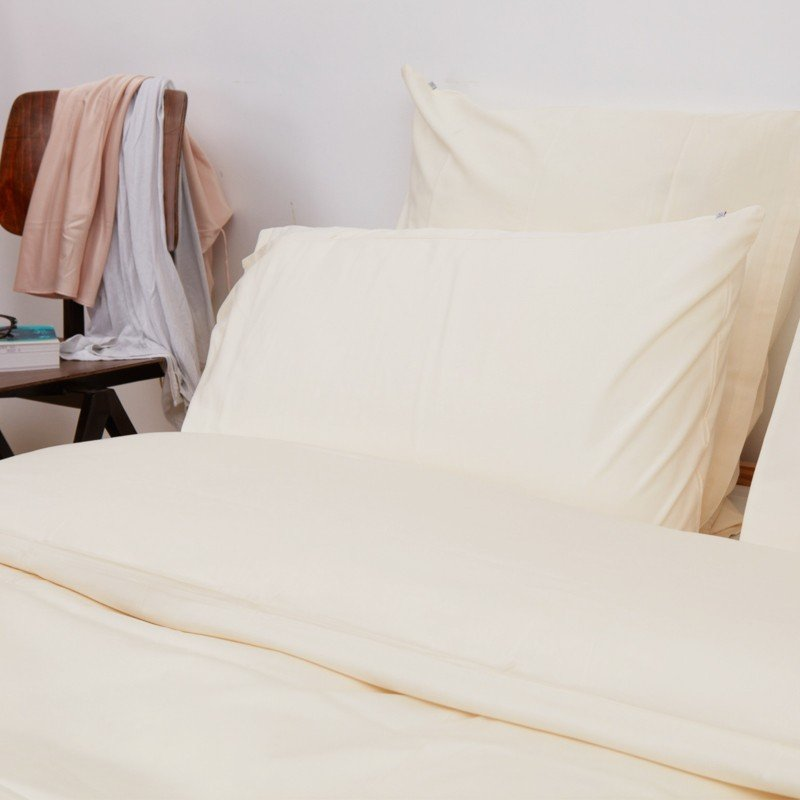 Cotton Sateen Pillowcase Ivory 6