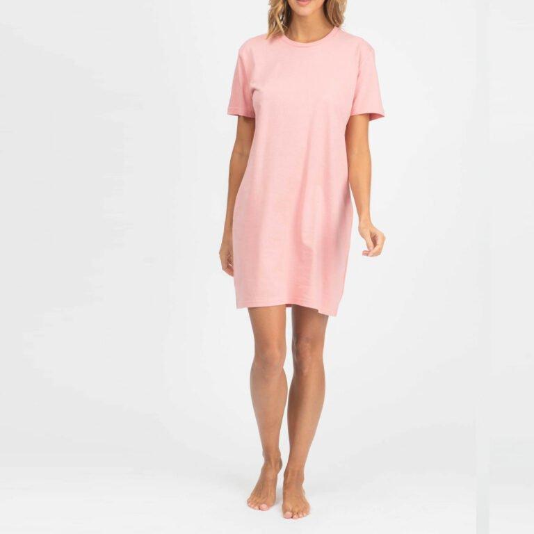 dress women organic w jersey dress organic w jersey dress canyon pink 1