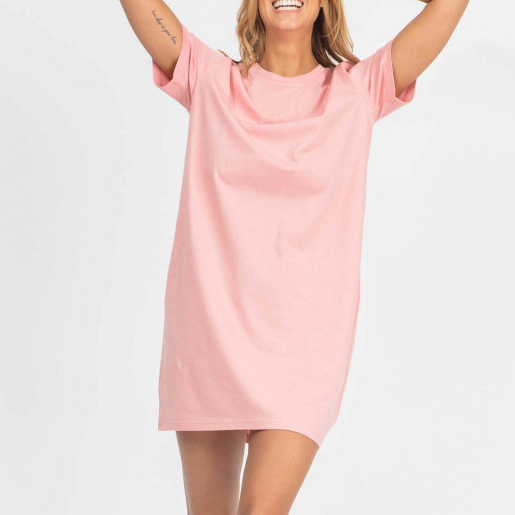 dress women organic w jersey dress organic w jersey dress canyon pink 2