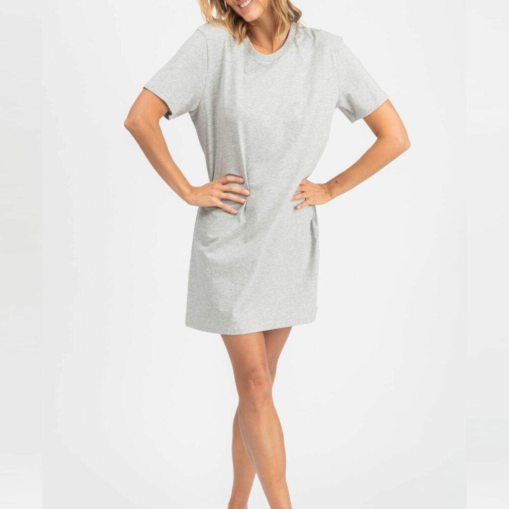 dress women organic w jersey dress organic w jersey dress heather grey 2