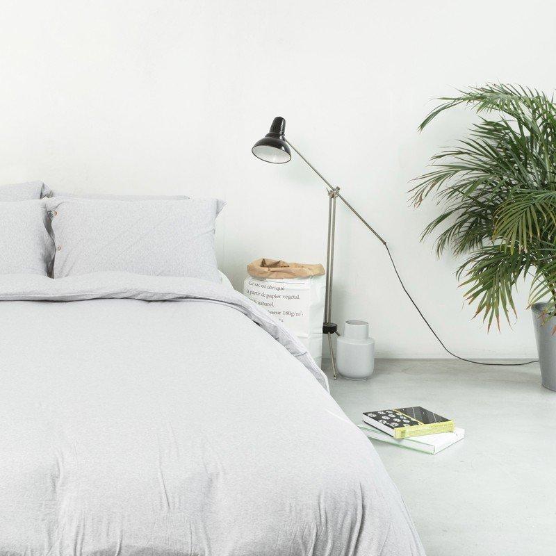 Duvet Cover Premium Jersey Light Grey Melange 10