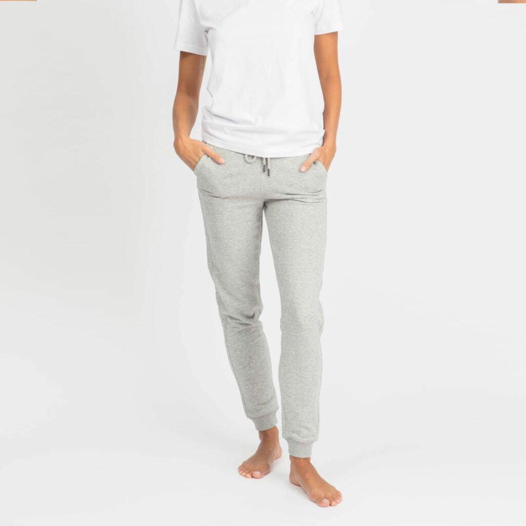 pants women organic w slim pants organic w slim pants heather grey 2