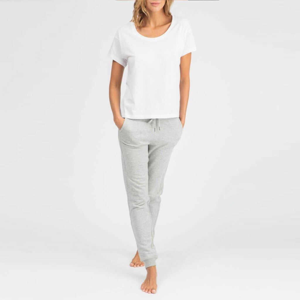 pants women organic w slim pants organic w slim pants heather grey 6