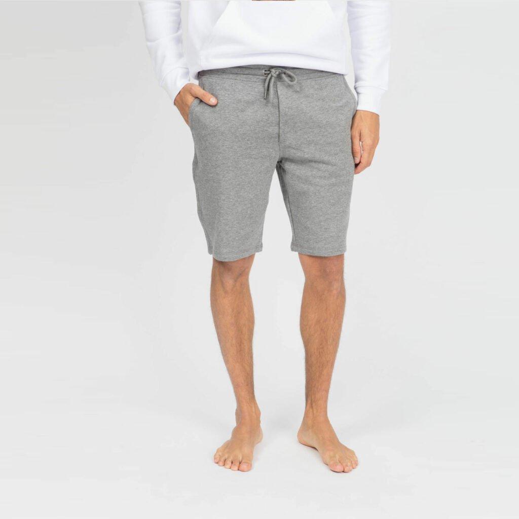 shorts men organic shortss organic shortss mid heather grey 2