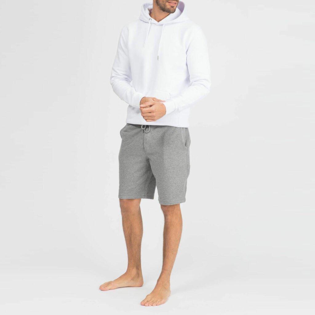 shorts men organic shortss organic shortss mid heather grey 3