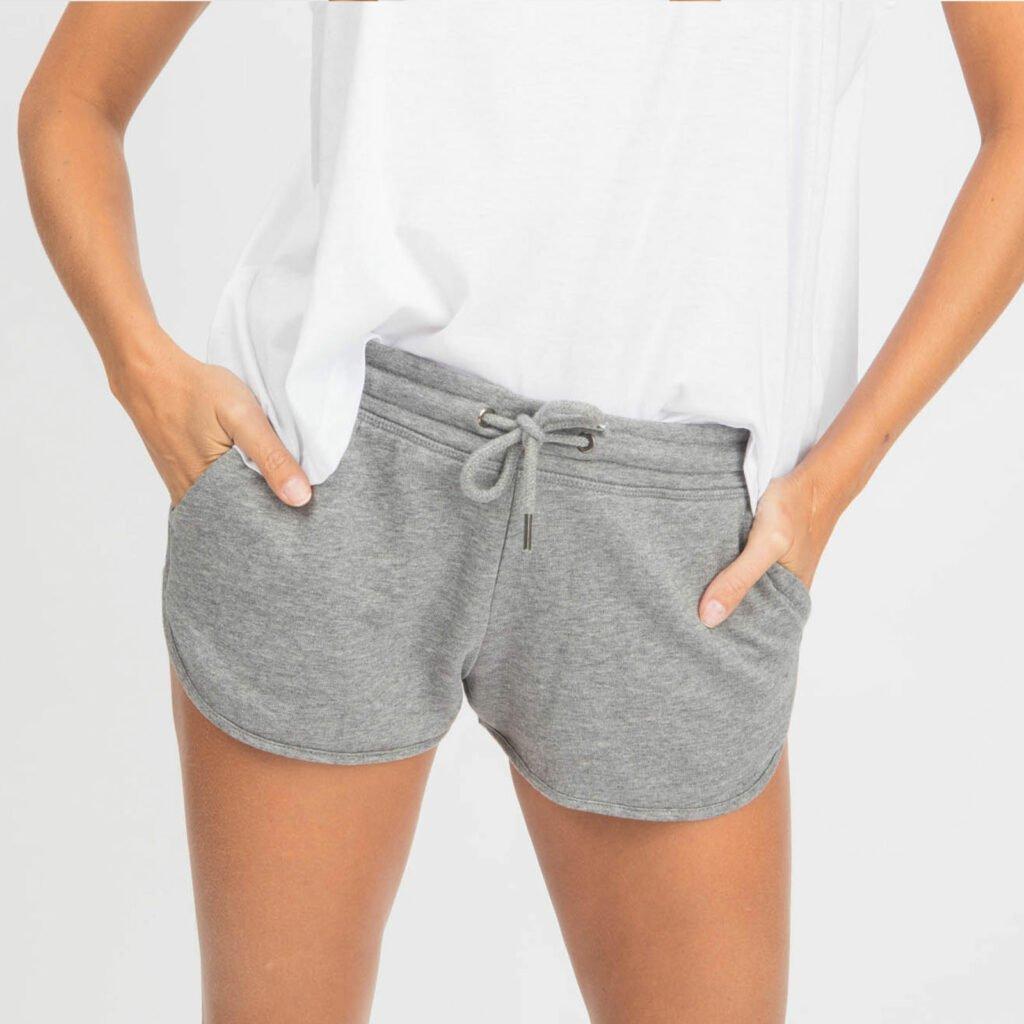 shorts women organic w shortss organic w shortss mid heather grey 2