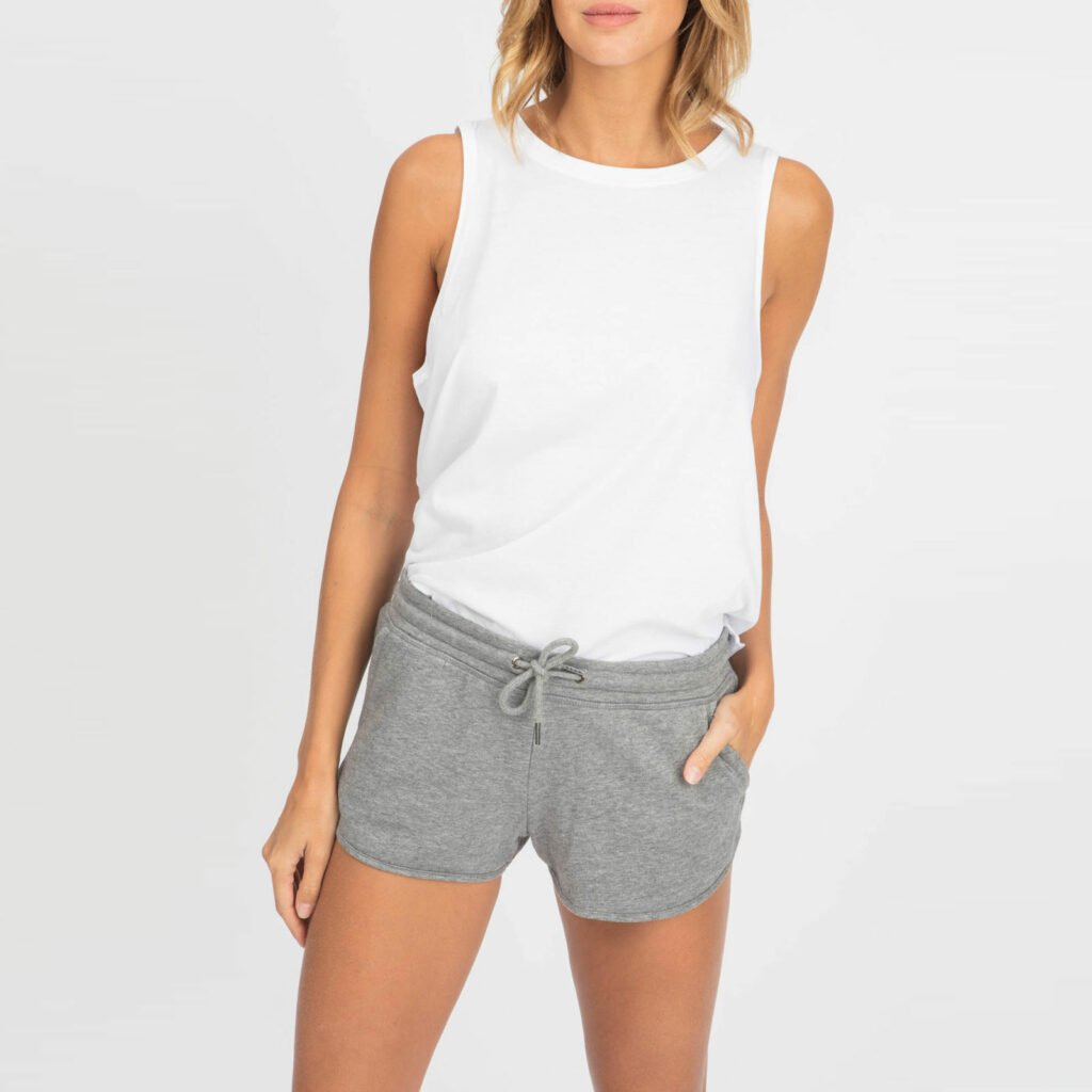 shorts women organic w shortss organic w shortss mid heather grey 4