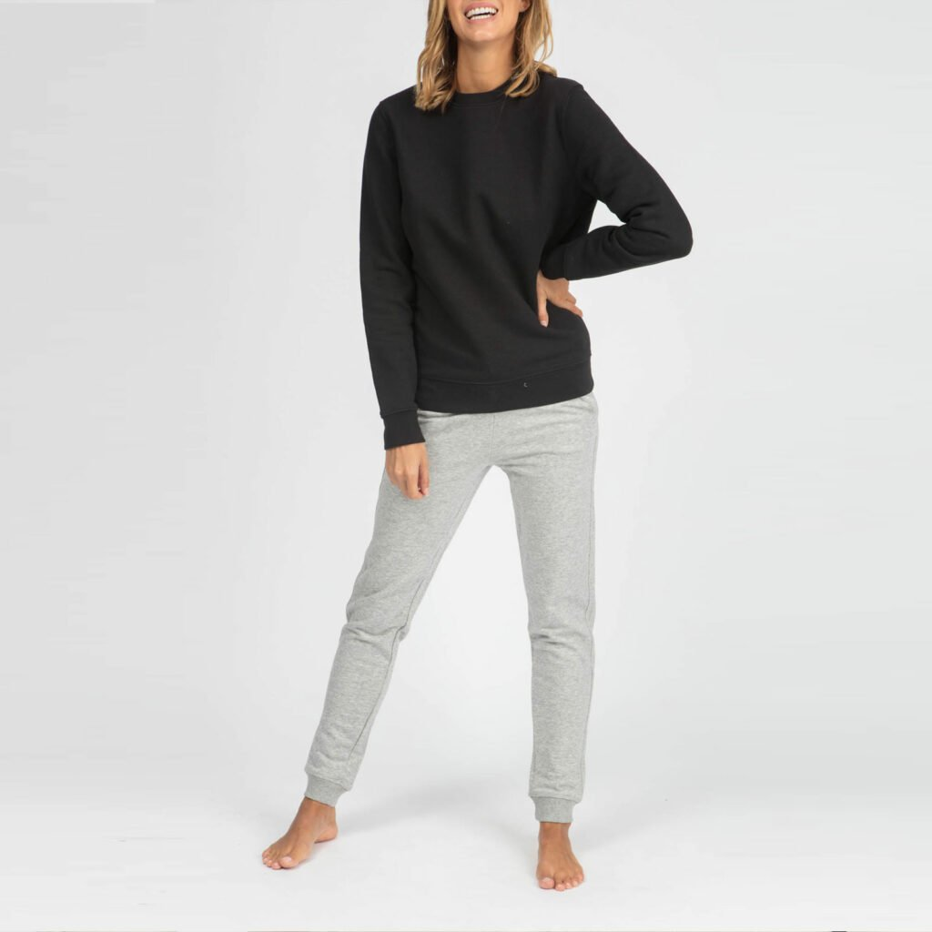 sweat unisex organic crewneck pullover organic crewneck pullover black 2