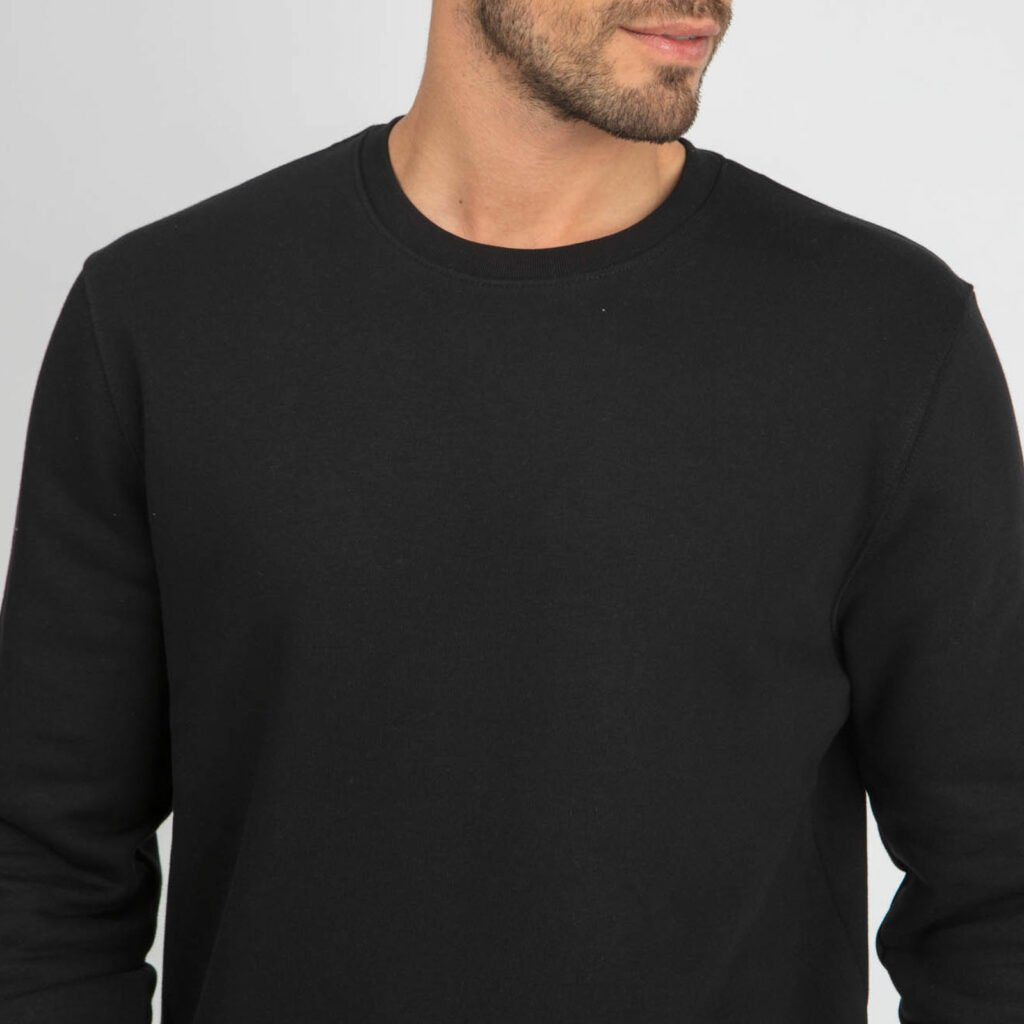 sweat unisex organic crewneck pullover organic crewneck pullover black 3