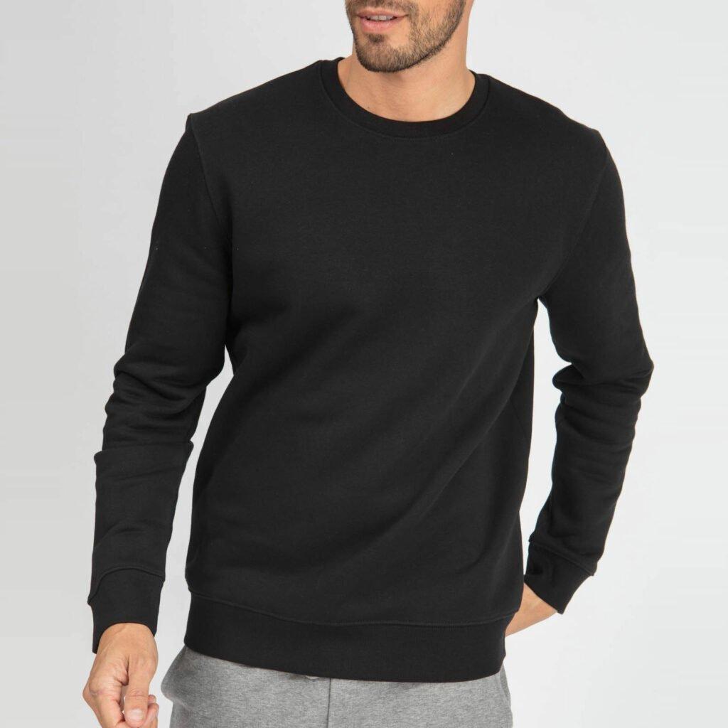 sweat unisex organic crewneck pullover organic crewneck pullover black 4