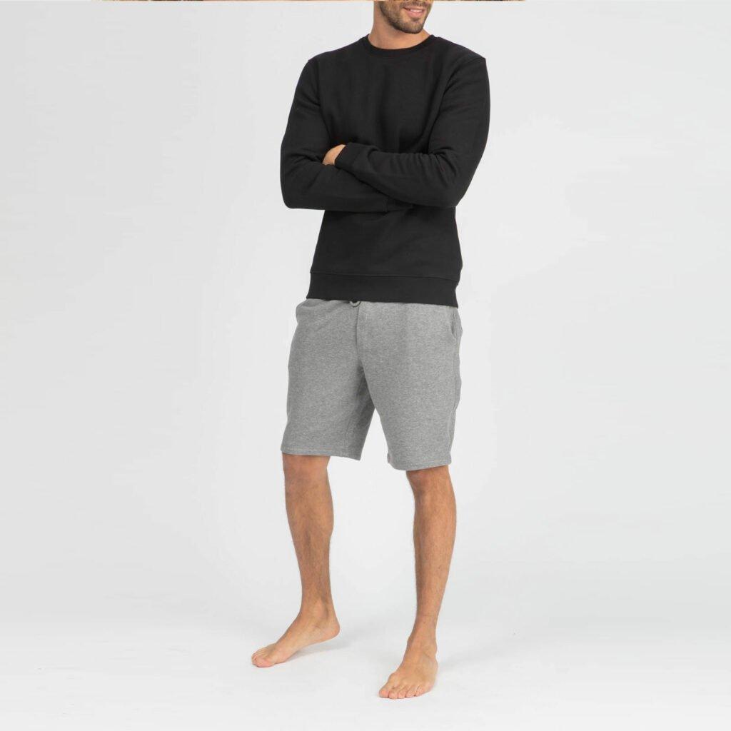 sweat unisex organic crewneck pullover organic crewneck pullover black 5