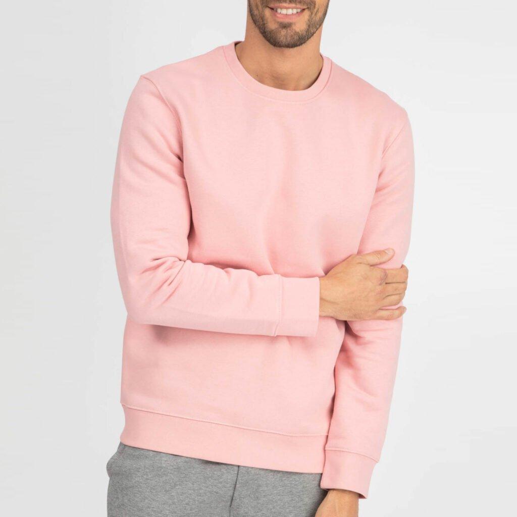 sweat unisex organic crewneck pullover organic crewneck pullover canyon pink 1