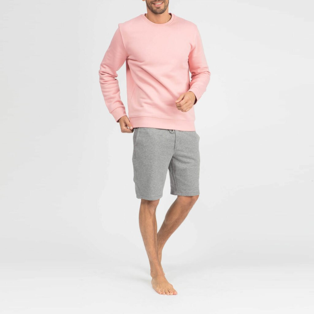 sweat unisex organic crewneck pullover organic crewneck pullover canyon pink 2