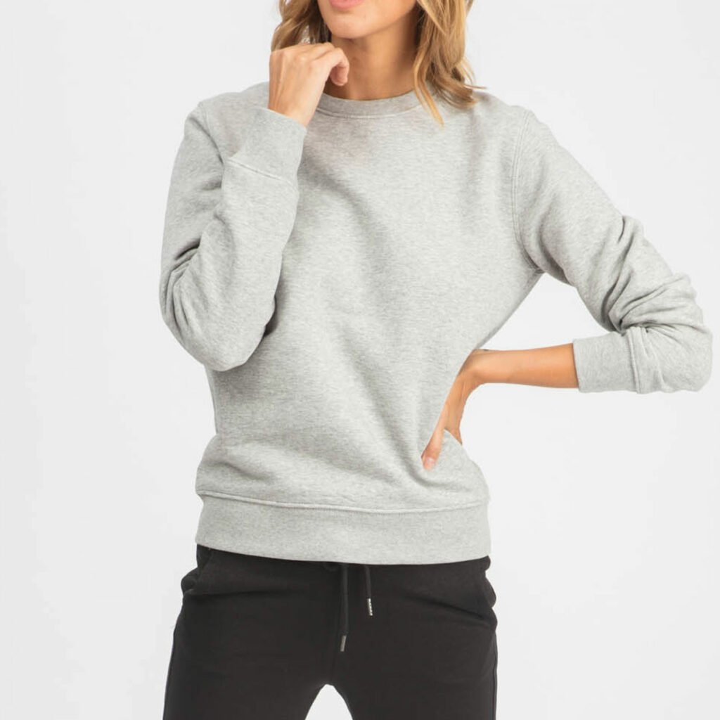 sweat unisex organic crewneck pullover organic crewneck pullover heather grey 1