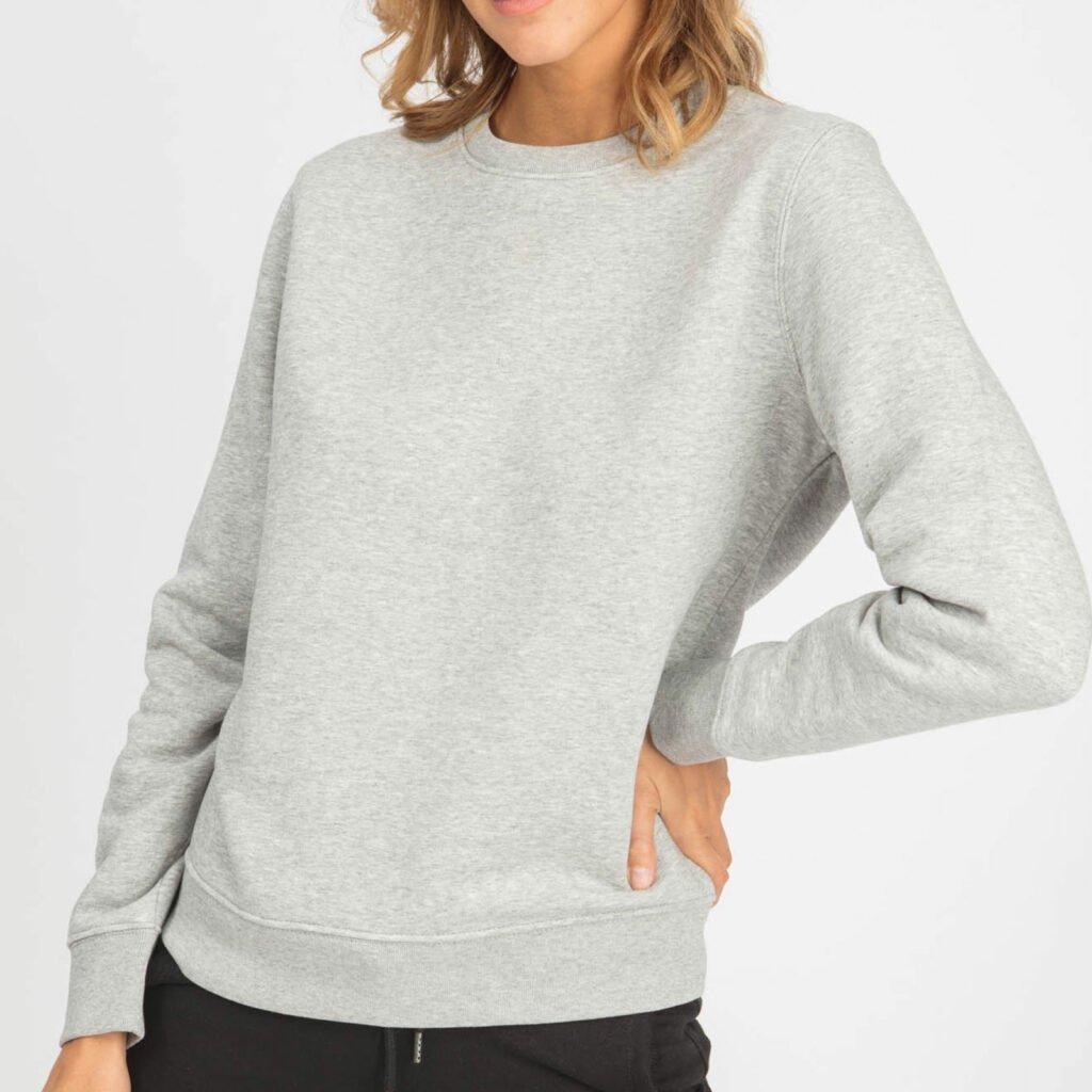 sweat unisex organic crewneck pullover organic crewneck pullover heather grey 2