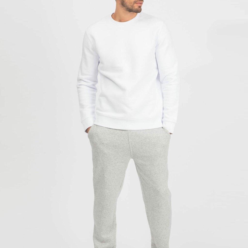 sweat unisex organic crewneck pullover organic crewneck pullover white 1