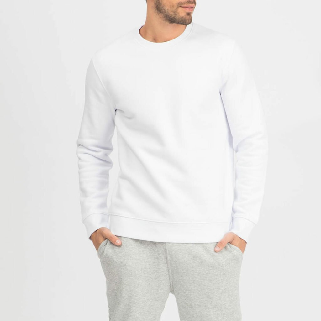 sweat unisex organic crewneck pullover organic crewneck pullover white 2