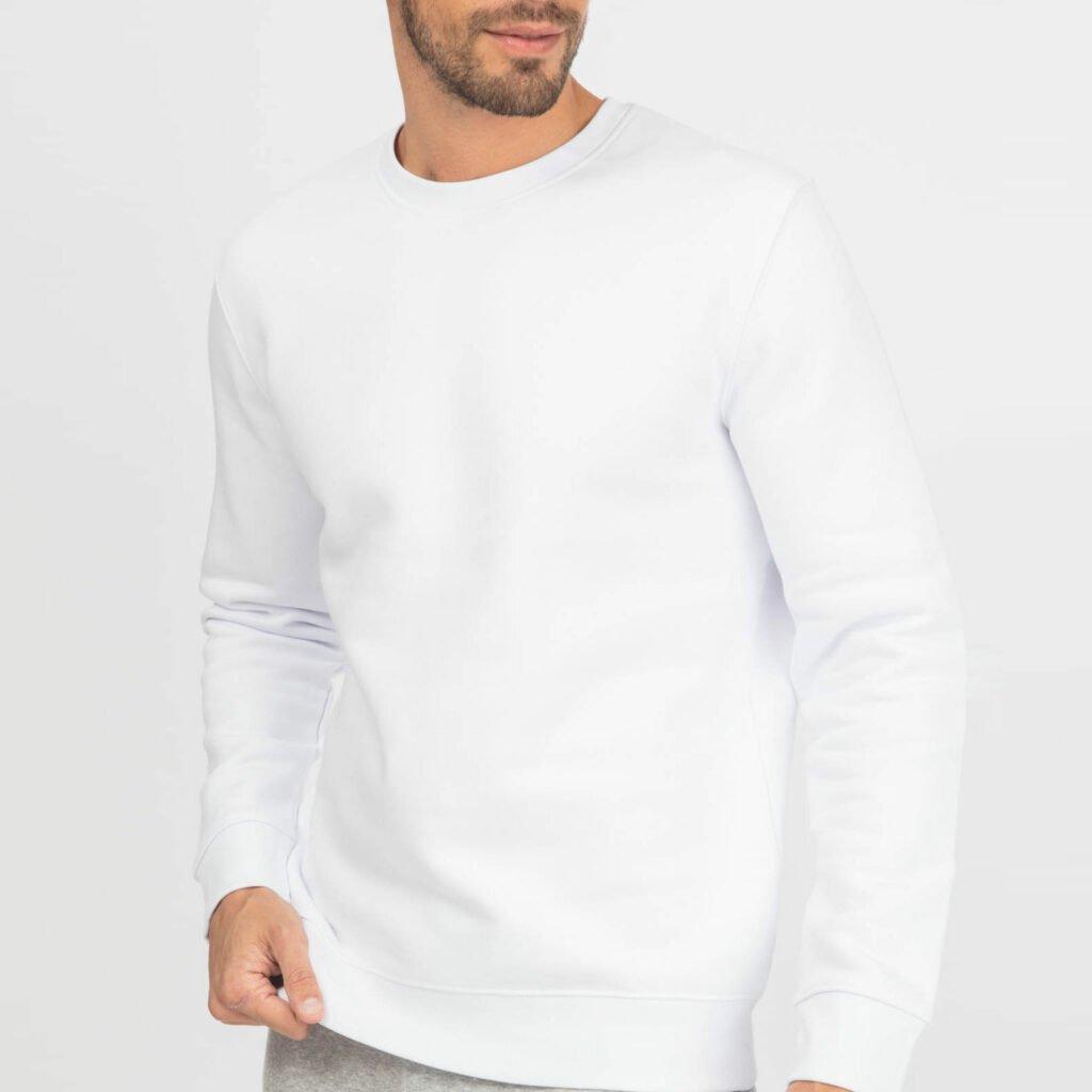 sweat unisex organic crewneck pullover organic crewneck pullover white 3