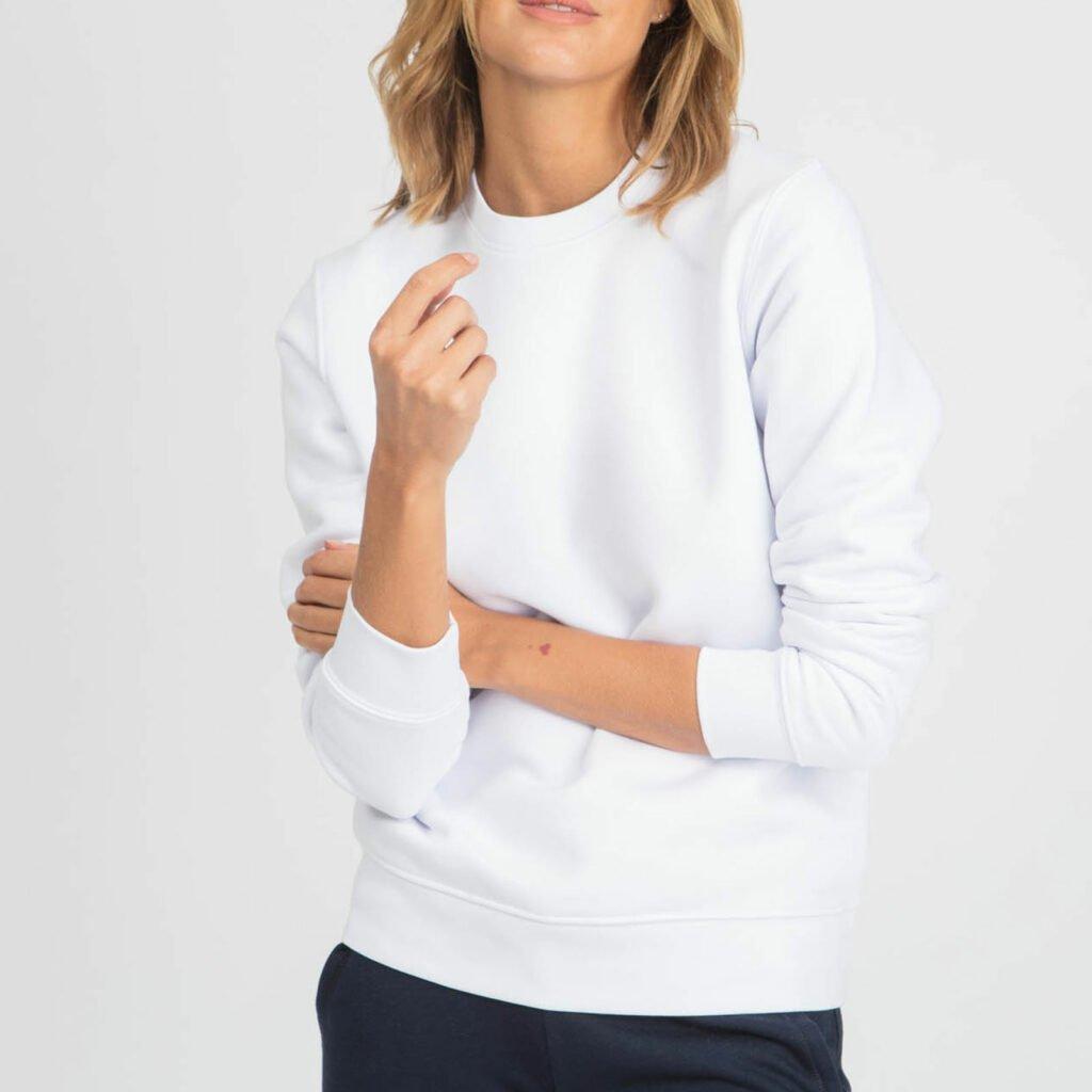 sweat unisex organic crewneck pullover organic crewneck pullover white 5