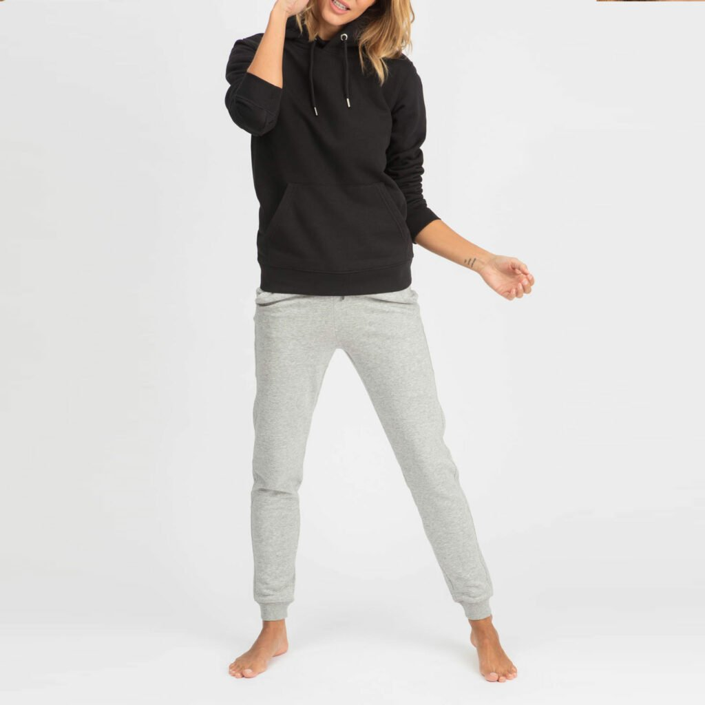 sweat unisex organic hooded pullover organic hooded pullover black 1