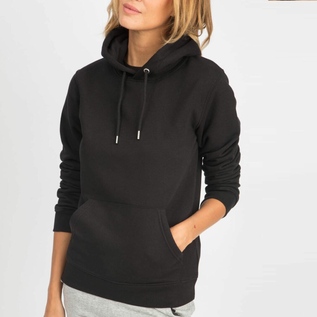 sweat unisex organic hooded pullover organic hooded pullover black 2