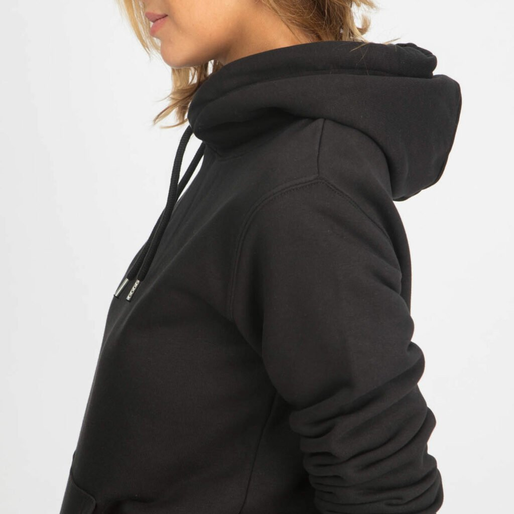 sweat unisex organic hooded pullover organic hooded pullover black 3