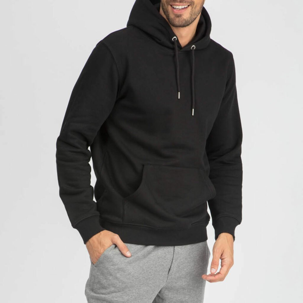 sweat unisex organic hooded pullover organic hooded pullover black 5