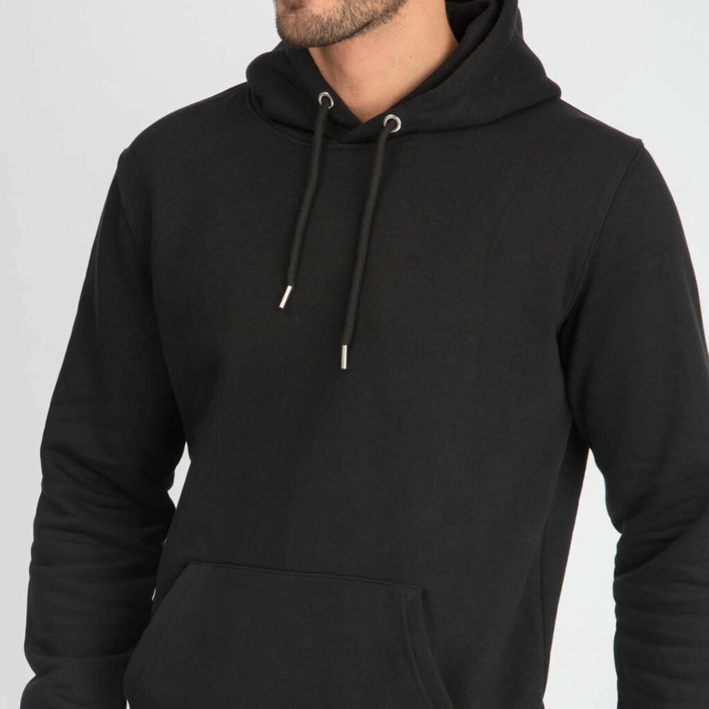 sweat unisex organic hooded pullover organic hooded pullover black 6