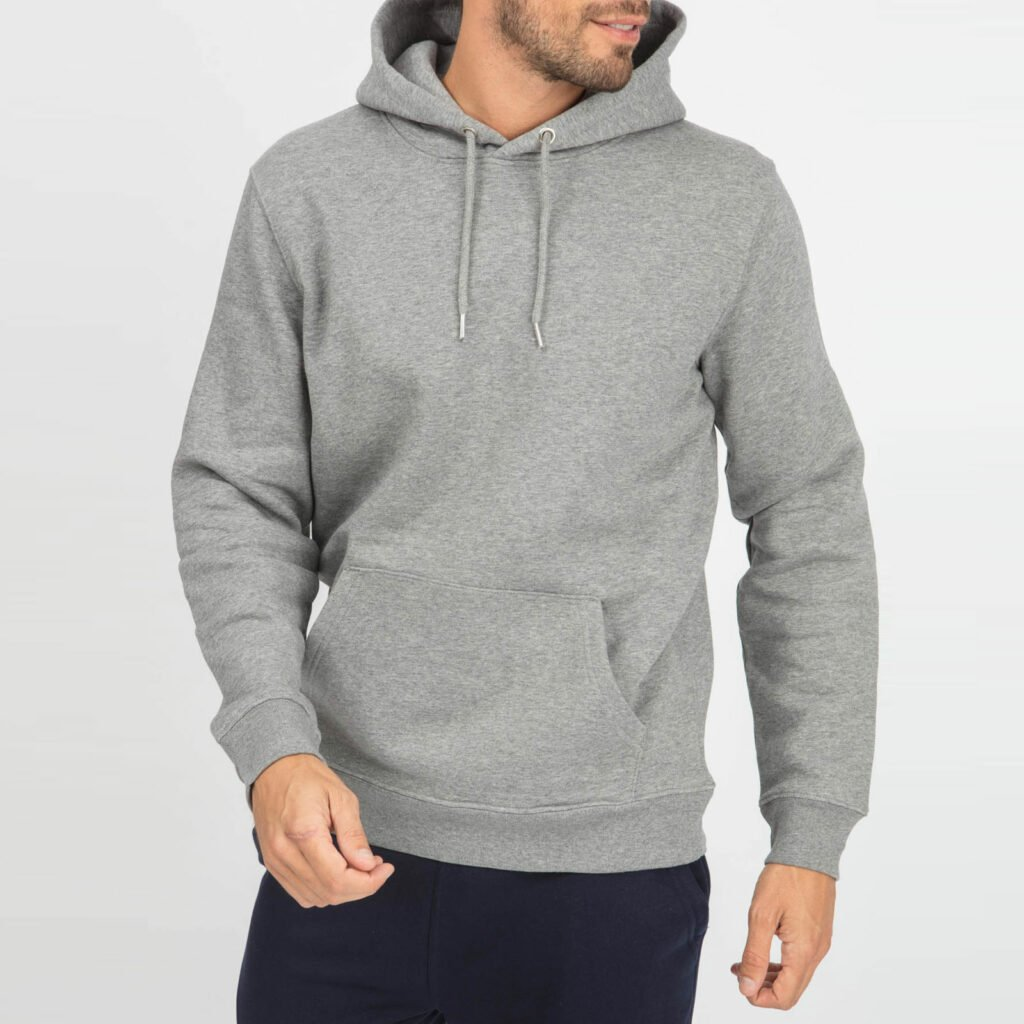 sweat unisex organic hooded pullover organic hooded pullover mid heather grey 2