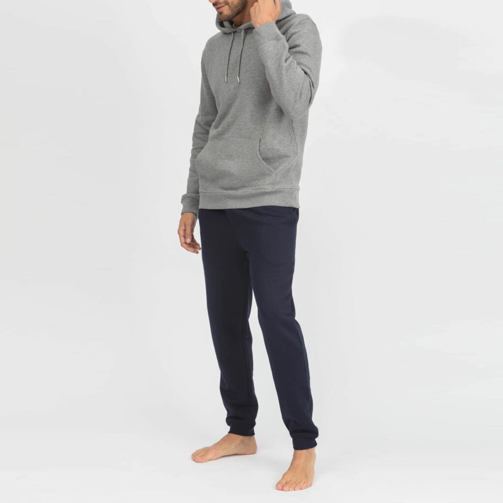 sweat unisex organic hooded pullover organic hooded pullover mid heather grey 4