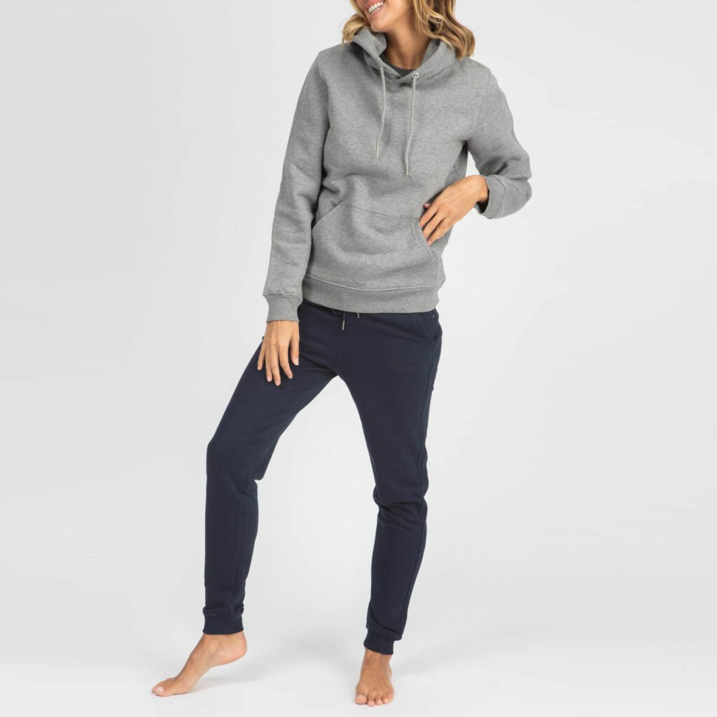 sweat unisex organic hooded pullover organic hooded pullover mid heather grey 5