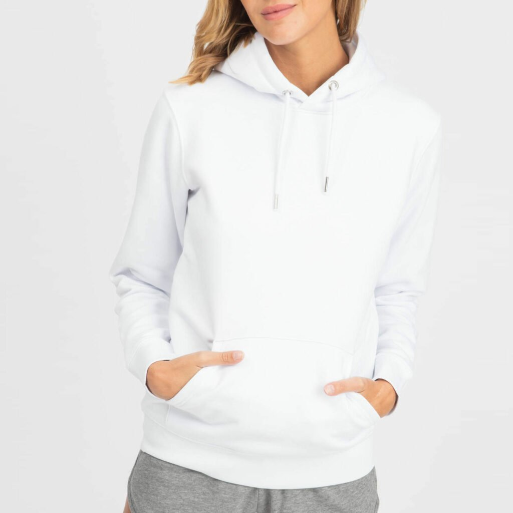 sweat unisex organic hooded pullover organic hooded pullover white 2