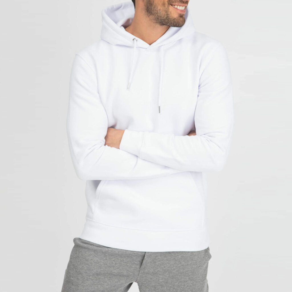 sweat unisex organic hooded pullover organic hooded pullover white 4