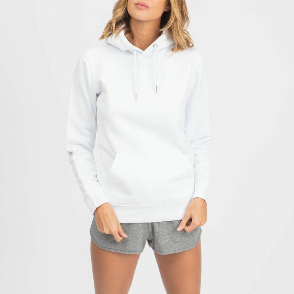 sweat unisex organic hooded pullover organic hooded pullover white 5