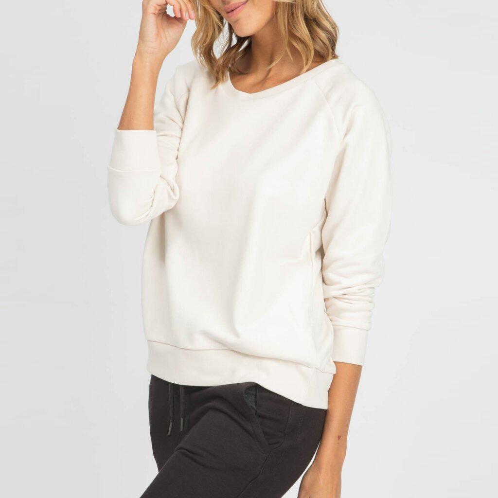sweat women organic w crewneck pullover organic w crewneck pullover Vintage white 1