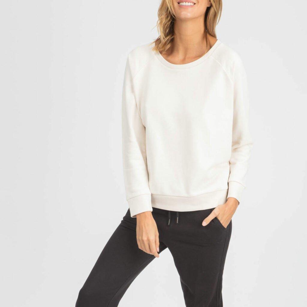 sweat women organic w crewneck pullover organic w crewneck pullover Vintage white 2