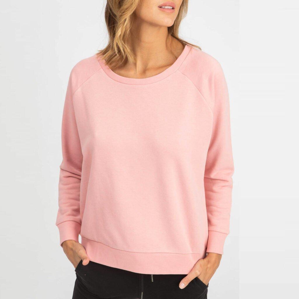 sweat women organic w crewneck pullover organic w crewneck pullover canyon pink 1