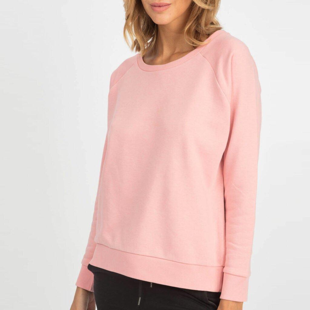 sweat women organic w crewneck pullover organic w crewneck pullover canyon pink 2