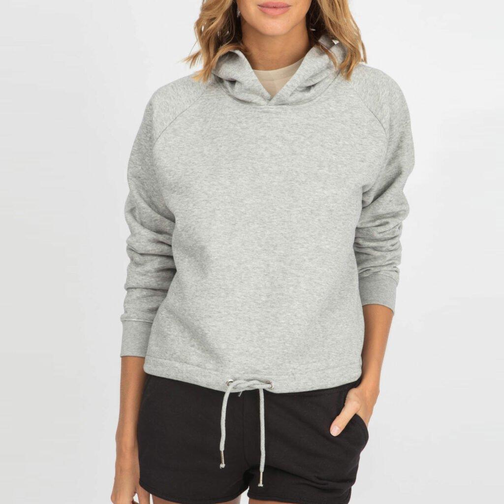 sweat women organic w hooded pullover organic w hooded pullover heather grey 1