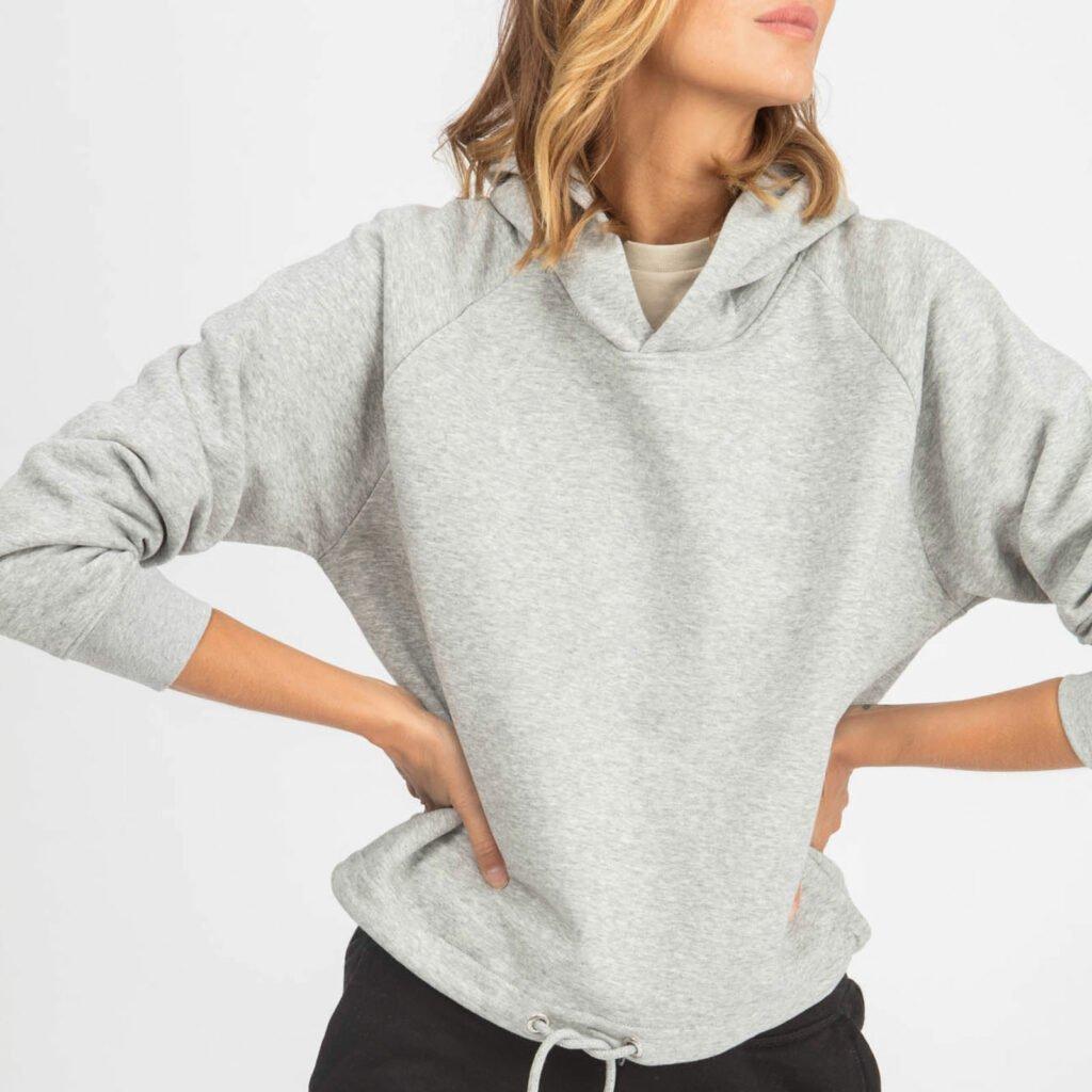 sweat women organic w hooded pullover organic w hooded pullover heather grey 2