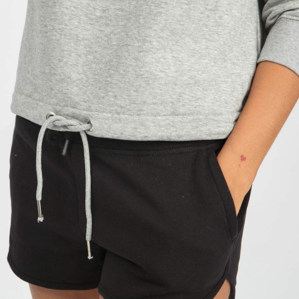 sweat women organic w hooded pullover organic w hooded pullover heather grey 4